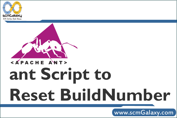 How to use ant Script to Reset BuildNumber?