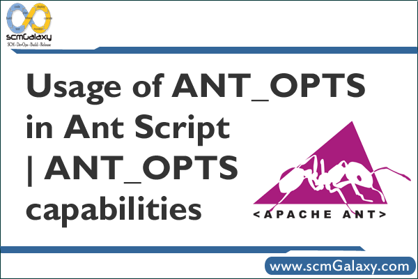 Usage of ANT_OPTS in Ant Script | ANT_OPTS capabilities