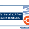install-e17-from-svn-source