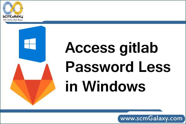 Access gitlab Password Less in Windows