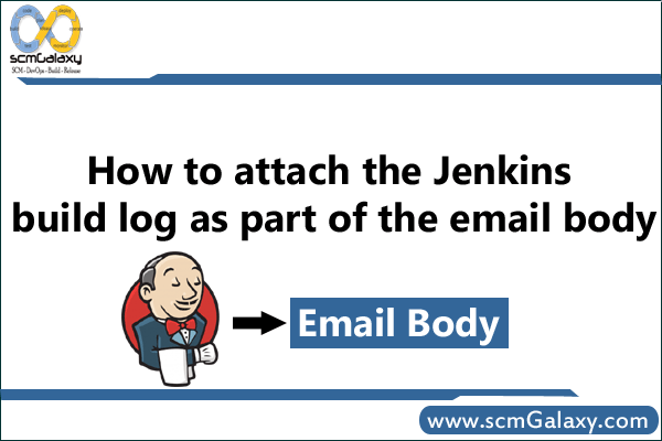 How to attach the jenkins build log as part of the email body?