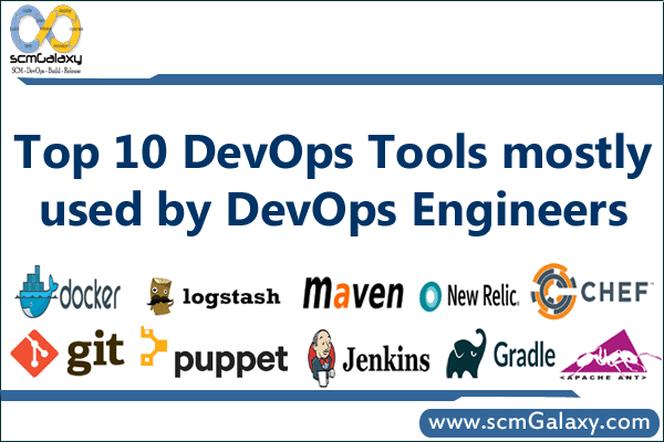 Top 10 DevOps Tools which is mostly used by DevOps Engineers | scmGalaxy