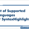 languages-for-syntaxhighlighter