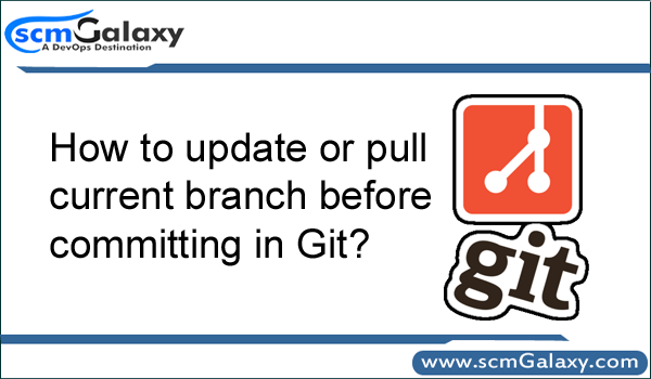 How to update or pull current branch before committing in Git?