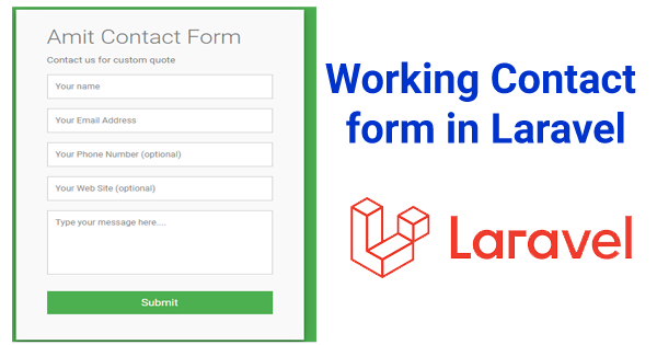Create contact form in laravel 5.8