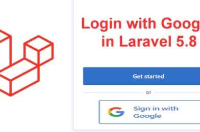 Login with Google in Laravel 5.8