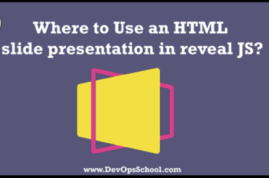 Where to Use an HTML slide presentation in reveal JS?