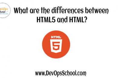 What are the differences between HTML5 and HTML?