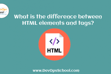 What is the difference between HTML elements and tags?
