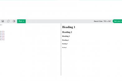 HTML: Heading tag