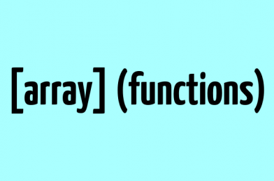 Which Array Functions are present in Array
