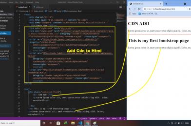 Adding Bootstrap 4.4.0 CDN to HTML